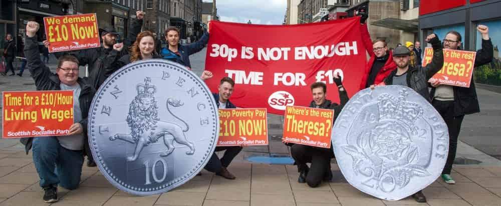 Demo demanding a decent living wage