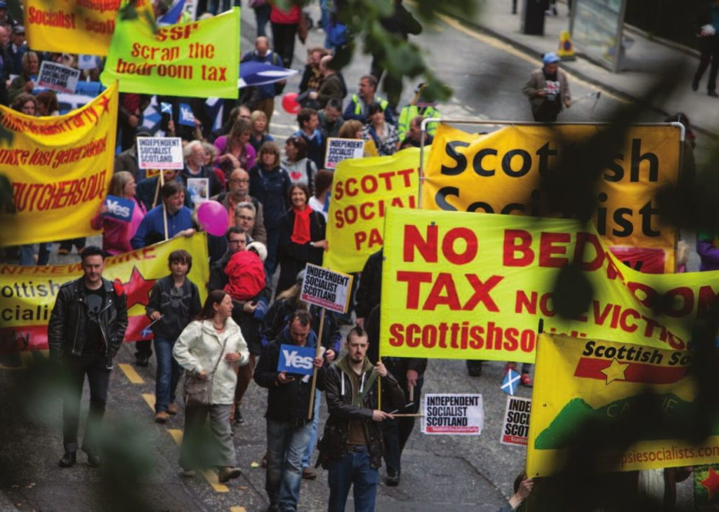 Defying unfair taxes, demanding immediate improviement to the livelihoods of the working class. The SSPs record is unparalleled in Scotland today.