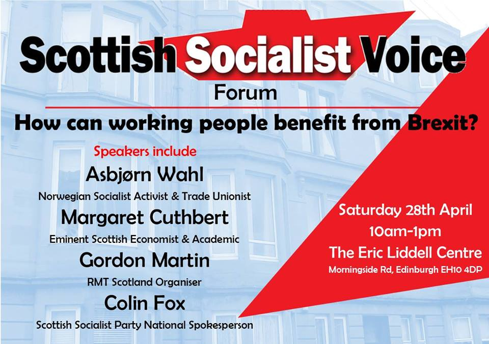 How can working people benefit from Brexit? @ Eric Liddell Centre | Scotland | United Kingdom